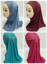 Beautiful Tassel Girls Kids Muslim Hijab Islamic Scarf Arab Shawls Headwear