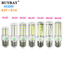 Super bright E27 LED corn bulb light E14 led lamp AC 220V lamparas Warm white/Cool white 5730 SMD LED bombillas energy saving(China)