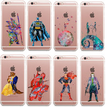 Kid Goku Dragonball Z Star Wars Marvel captain America Soft TPU Clear Phone Cases for iPhone 5 5S SE 6 6S 7 7Plus Drop shipping(China)