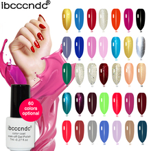 New Soak Off UV Gel Nail Polish 7ml Semi Permanent Gel varnish polish display color uv gel lacquer Ibcccndc(China)