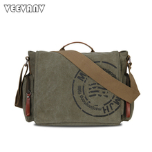 Buy 2017 New Vintage Men's Messenger Bags Canvas Shoulder Bags Fashion Men Business Postman Travel Crossbody Bags Printing Briefcase for $32.29 in AliExpress store