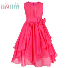 2017 Flower Girls Dresses For Wedding Pageant Prom Party Beach Dress Kids Vestidos Clothing Toddler Children Bridesmaid Clothes