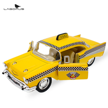 New 1:40 Scale Car Toys 1957 Chevrolet Bel Air Taxi Diecast Metal Pull Back Car Model Toy For Gift/Kids/Collection