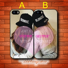 Coque Every Brunette Needs A Blonde Best Friends Case for iPhone X 8 7 6S 6 5S SE 5 5C 4S 4 Plus Cover for iPod Touch 6 5 Case.