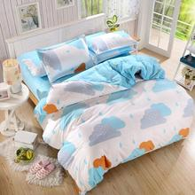 UNIKEA New bedding sets Love home style spring rainy season pillowcase bed sheet duvet cover 3/4pcs Twin full Queen soft comfort