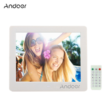 "Andoer 8"" HD Wide Screen Digital Photo Picture Frame with Alarm Clock MP3 MP4 Movie Player Function with Remote Control(China)"