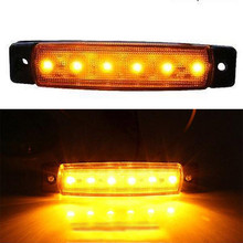 New 12V 6LED Bus Truck Trailer Lorry Side Markers Indicator Light Sidelamp Amber