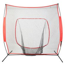 Softball Baseball Practice Net with Bow Frame Compact Carrying Bag Softball Training Net Outdoor Training 7*7(China)