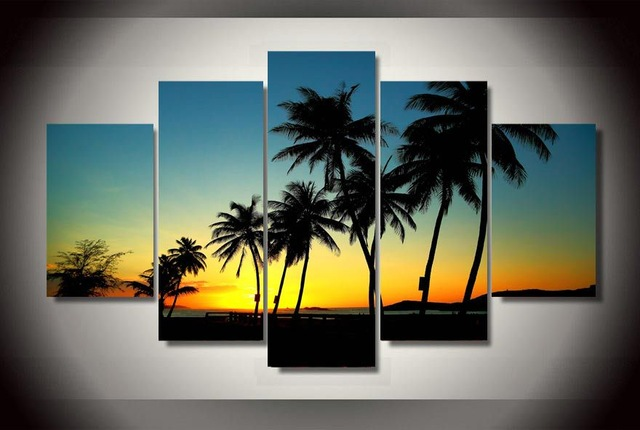 HD-Printed-Sunset-beach-with-palm-trees-Painting-on-canvas-room-decoration-print-poster-picture-canvas.jpg_640x640