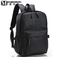 Men Black Travel Leather Backpack Male School Bag for Teenage Boy Schoolbag Satchel College Back Pack Bag Youth Bagpack Rucksack
