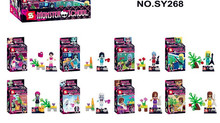 480pcs SY268 Monster School Girl Friends Building Block bricks Sets TOYS Educational DIY baby Toys(China)