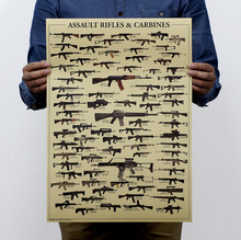 World famous gun Daquan / retro military fans Poster / nostalgia / kraft paper posters vintage / decorative painting 51x35.5cm