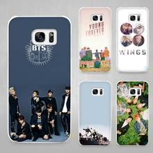 Bangtan BTS Boys Hard White Coque Shell Case Cover Phone Cases for Samsung Galaxy S4 S5 S6 S7 Edge Plus