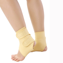 Tourmaline self-heating ankle support far infrared magnetic therapy ankle support tourmaline nano ankle belt Foot care 2pcs1pair(China)