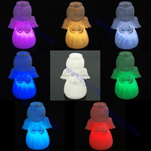 For 1PC Cute Angel 7-Color Changing LED Lamp Decor Night Light Promotion(China)