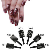 6pcs Cat Eye 3D Effect Magic Magnet Stick Magnetic Nail Art Tips Different Patterns Chevron Nail Art Tool