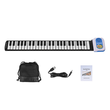 Portable 49 Keys Silicon Electronic Keyboard Hand Roll Up Piano with Built-in Speaker Teaching Function for Children Kids(China)