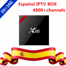 Buy Spanish IPTV Swedish Nordic X96 Quad Core Android 7.1 4k 16G TV Box 1 Year Subscription Europe IPTV Channels iptv Smart TV Box for $76.80 in AliExpress store