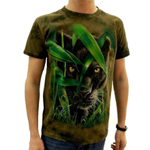 2017 3d T-shirt brand Animal Printed Cool men Tie Dye T Shirt 100% Cotton Short Sleeve fitness Hip Hop O-Neck Tee-shirt homme(China)