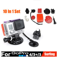 GoPro Surf Accessories Expansion Surfing Kit Mount set Summer Underwater 10pcs Surfboard Mounts Kits for Gopro Hero 5 4 3+ 3 2 1