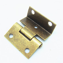 50pcs 25*24mm Packaging Hardware Small hinge three equivalent page 1 inch 5 hole hinge small cabinet hinges