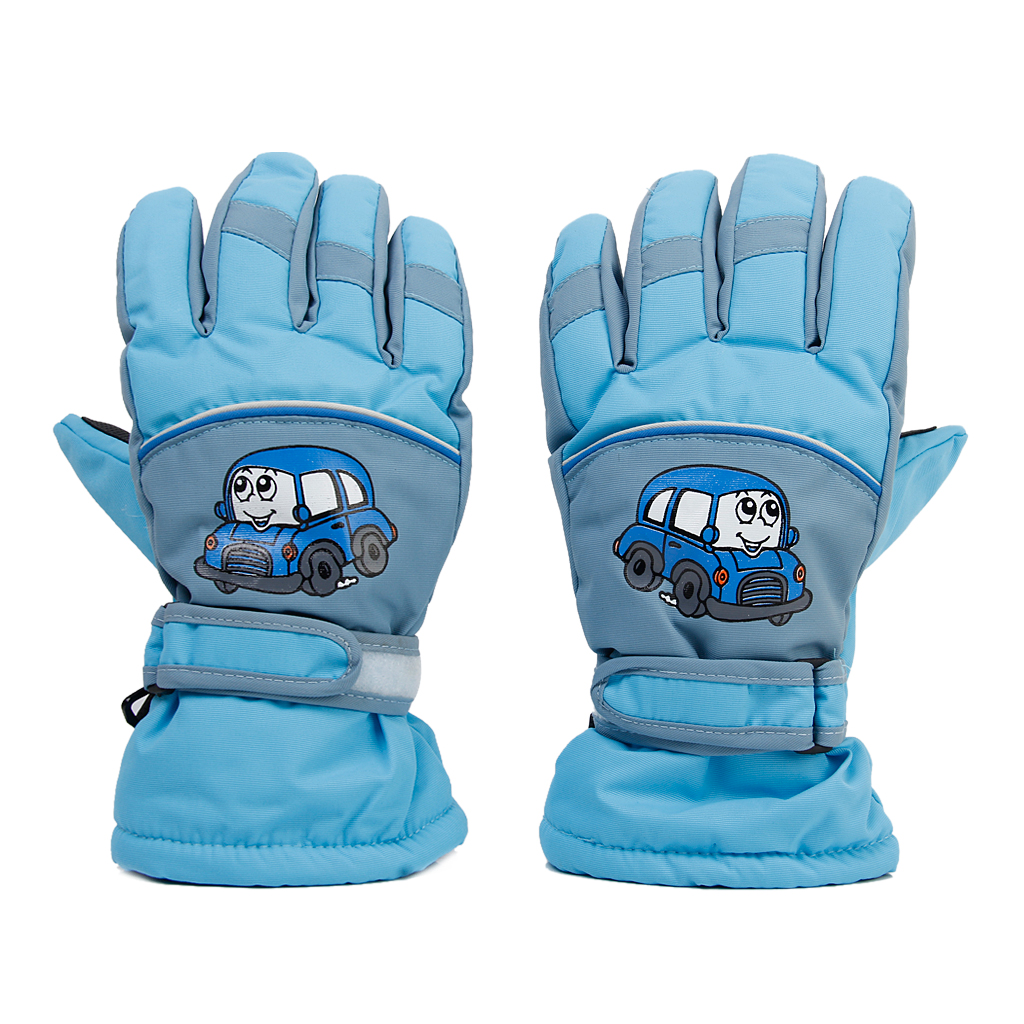 Pair Anti-slip Winter Warm Breathable 6-8 Years Children Kids Ski Skating Gloves Sky Blue Skiing Gloves Sportswear Accessories(China)