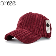 BHESD 2017 Plain Corduroys Dad Hat Women Wine Red Corduroy Warm Baseball Cap Men Street Fashion Casual Snapback Hat Chapeu JY14