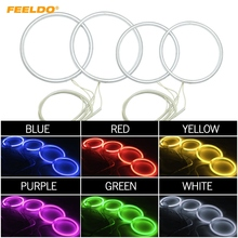FEELDO 4Pcs/set Car CCFL Angel Eyes Light Halo Rings Kits For Volkswagen Passat 05-08 Car Styling Headlight White #FD-4852(China)
