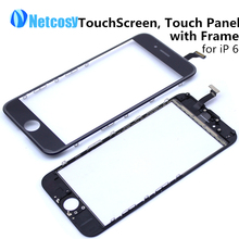 Black White Touch Screen Digitizer Touch Panel Glass Lens for Apple for iPhone 6 4.7 Touchscreen Replaement Repair Spare Parts