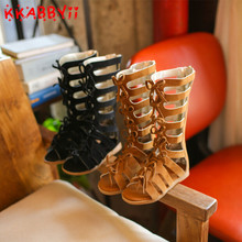 KKABBYII Female Child Sandals Princess Shoes High Shoes Cutout Gladiator Sandals Baby Boots Girl's Fashion Sandals EU 26-30