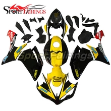 Fairings Fit Yamaha R1 Year 2007 2008 07 08 ABS Motorcycle Fairing Kit Bodywork Motorbike Fairings Cowling Yellow Black(China)
