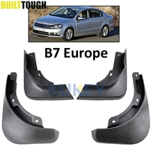 Front Rear Molded Car Mud Flaps For European VW Passat B7 2011-2014 2012 2013 Mudflaps Splash Guards Mud Flap Mudguards Fender(China)