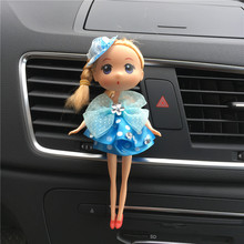 The automobile air conditioning outlet lovely perfume fragrance clip decoration confused doll Wedding little Bobbi decoration