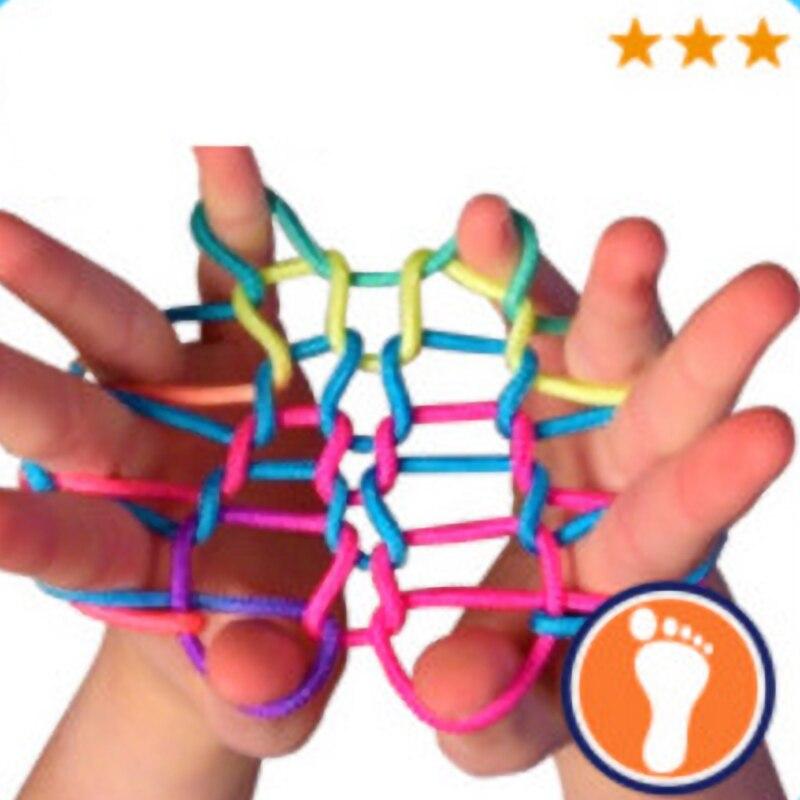 yyuezhi Thread Games per Bambini Giochi di Corda Arcobaleno Dito Torsione delle Dita Stringa Gioco Catena Giocattoli Educativi per Bambini per Dita Gioco per Forniture Corda Intrecciata Fai da Te