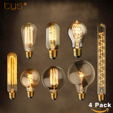 Buy 4Pcs/lot Edison Bulb E27 ST64 Retro Lamp Ampoule Vintage Bulb Lamparas Edison Lamp Incandescent Bulb 220v filament Light bulb for $5.99 in AliExpress store