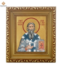Factory outlets cheap wood photo frame list of religions lcon of Martyrdom of Saint Stephen the byzantines orthodox jew hot sale