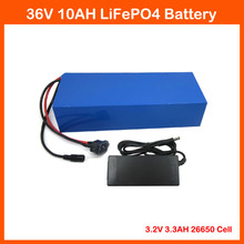 No tax 36v lifepo4 battery pack 36V 10AH LiFePO4 battery 500W 36V Electric Bike battery LiFePO4 10AH with 43.8V 2A charger