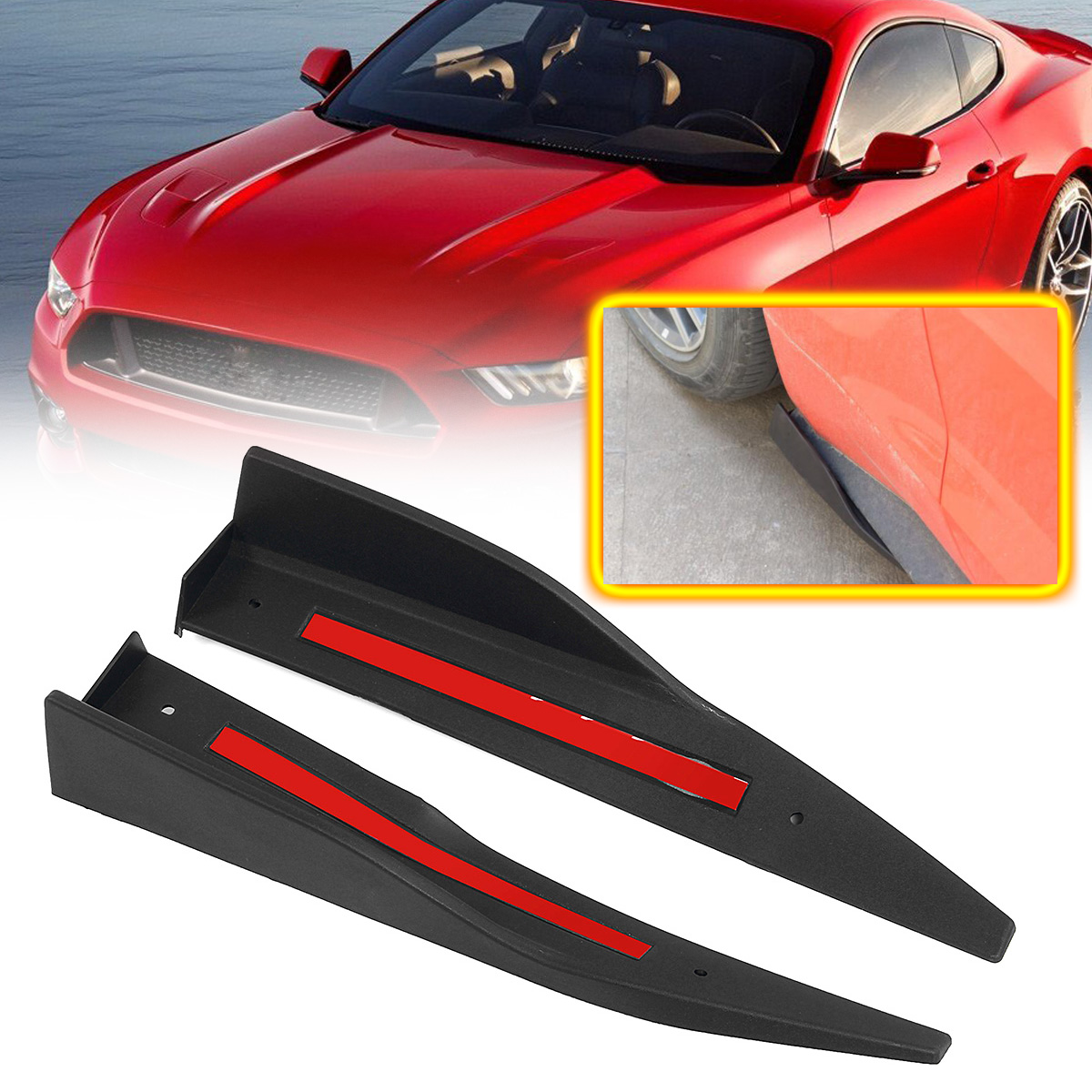 Rear Lower Bumper Diffuser For 2015-2017 Ford Mustang GT350 Valance Body Kit