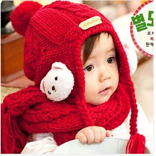 Newborn Photography Props Baby Cap For Children Winter Ear Hat Scarf boy And Girl Infant,crochet hats for toddlers