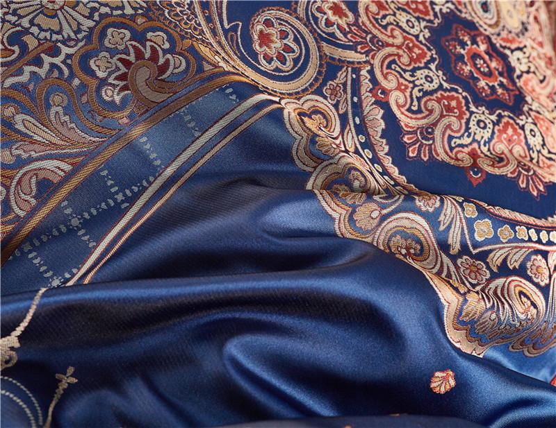 Luxury Bedding Set, Silk Satin Jacquard Bedding Set, Queen, King, Duvet Cover,Bed Linen Flat Sheet Set 27