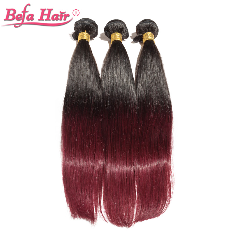 4pcs/lot high quality 16-24inch european human hair extensions straight  dyed ombre remy hair 1b/99j#<br><br>Aliexpress