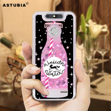 ASTUBIA Luxury Liquid Phone Case For ZTE Blade V8 Lite Case Silicone Cover Glitter Dynamic Pink Case For ZTE Blade V 8 Lite Capa(China)