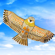 HOT 1 Set Golden Eagle Kite with Handle Line Games Bird Weifang Chinese Kites Flying Outdoor Toys Accessories(China)