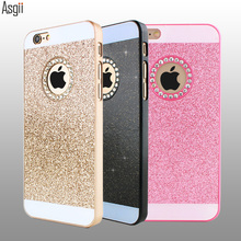 Case for iphone 4 4s 5 5s 6 6 plus 6s 6s plus Luxury Diamonds Shimmering Powder Case Cover High Quality Funda Coque for iPhone