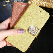 KISSCASE Luxury Bling Diamond Glitter Flip Case For iPhone 6 6S 7 Plus Leather Girl Bags Wallet Stand Glitter Cover For iPhone 6