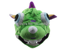 LOL Cosplay The Missing Link Dino Gnar Soft Plush Hat Cap Beanies(China)