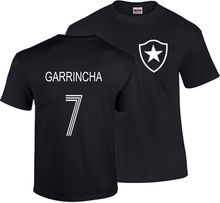 GARRINCHA T SHIRT BRAZIL BOTAFOGO FOOTBALLER LEGEND CAMISETA SOCCERER PELE Print T-Shirt Summer Style Top Tee(China)