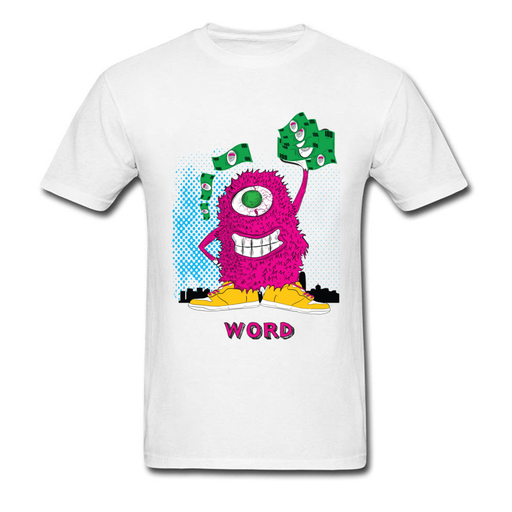 One eyed monster graphic t-shirt hoodies sweatshirts and more_white