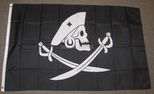 Edward England Pirate Flag 3x5FT banner 100D 150X90CM Polyester brass grommets custom66, Free Shipping(China)