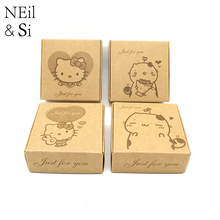 Kraft Paper Gift Box Wedding Candy Party Favor Handmade Soap Packaging Carton Boxes Brown Free shipping